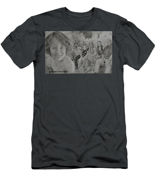 Teagan And Her Family Men's T-Shirt (Athletic Fit)