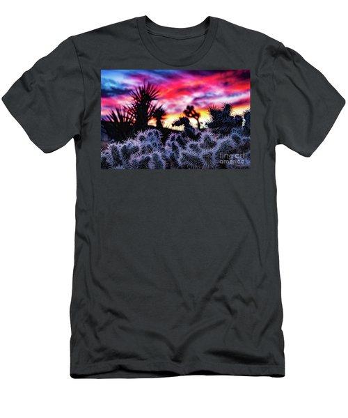 Teddy Bear Cholla Men's T-Shirt (Athletic Fit)