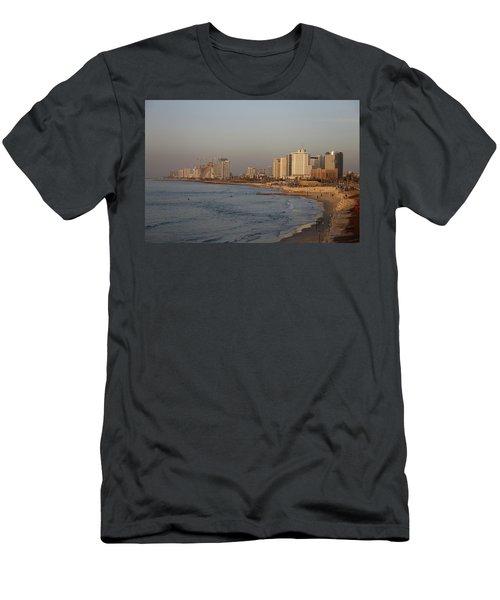 Tel Aviv Coast. Men's T-Shirt (Slim Fit) by Shlomo Zangilevitch