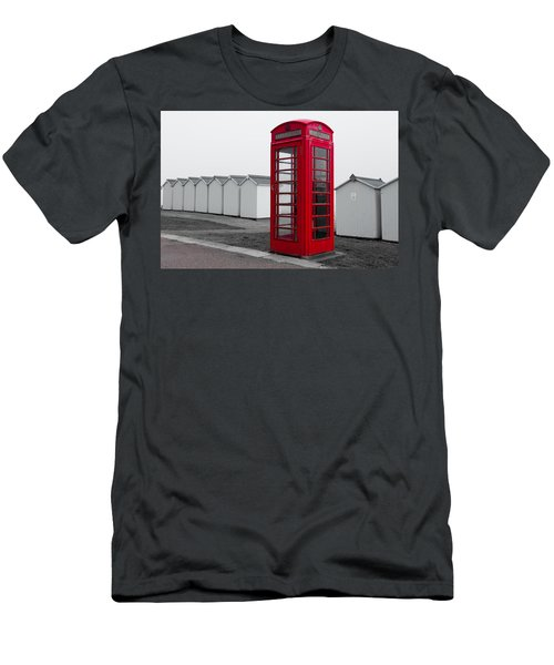 Telephone Box By The Sea I Men's T-Shirt (Athletic Fit)
