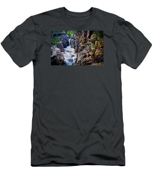 Men's T-Shirt (Athletic Fit) featuring the photograph Temperance River Gorge by Rikk Flohr