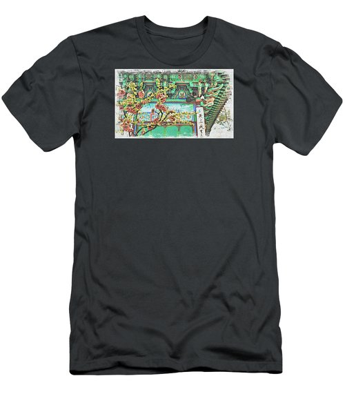 Temple Flowers Men's T-Shirt (Athletic Fit)