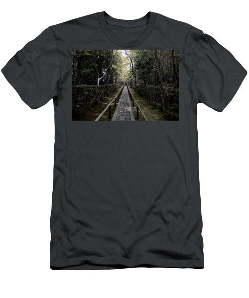 Temple Path - Kyoto Japan Men's T-Shirt (Athletic Fit)