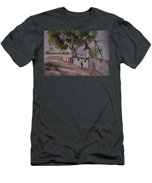 Temple Scene1 Men's T-Shirt (Athletic Fit)