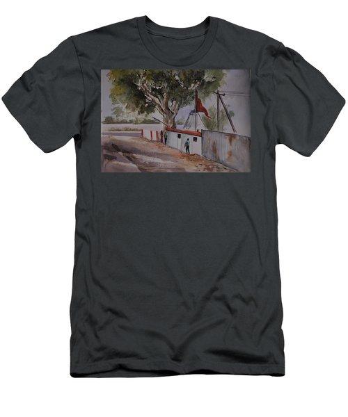 Temple Scene1 Men's T-Shirt (Athletic Fit)