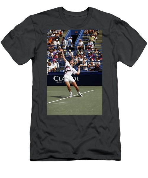 Tennis Serve Men's T-Shirt (Athletic Fit)