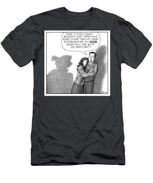 Terrifying Rage Men's T-Shirt (Athletic Fit)