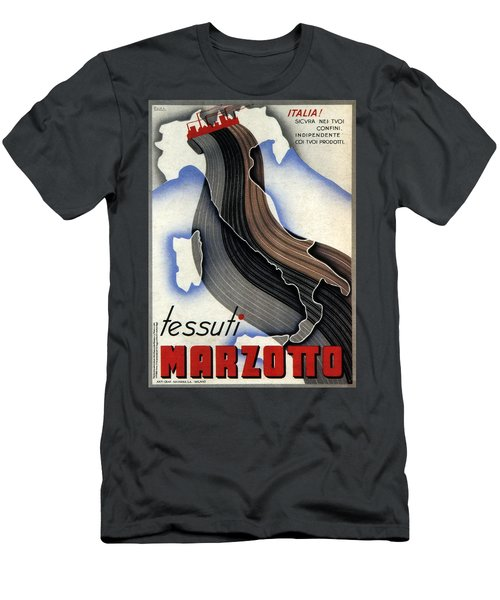 Tessuti Marzotto - Italian Textile Company - Vintage Advertising Poster Men's T-Shirt (Athletic Fit)