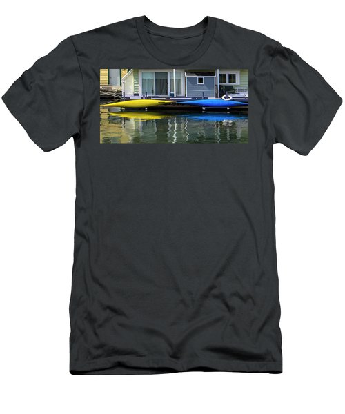 Marina Living In Victoria British Columbia 2to1 Men's T-Shirt (Slim Fit) by Ben and Raisa Gertsberg