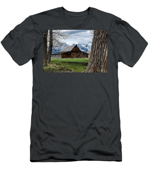 Men's T-Shirt (Athletic Fit) featuring the photograph Teton Barn #1 by Scott Read