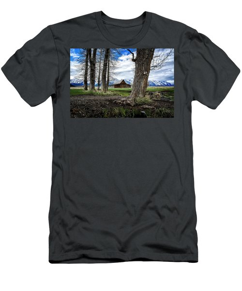Men's T-Shirt (Athletic Fit) featuring the photograph View From Mormon Row by Scott Read