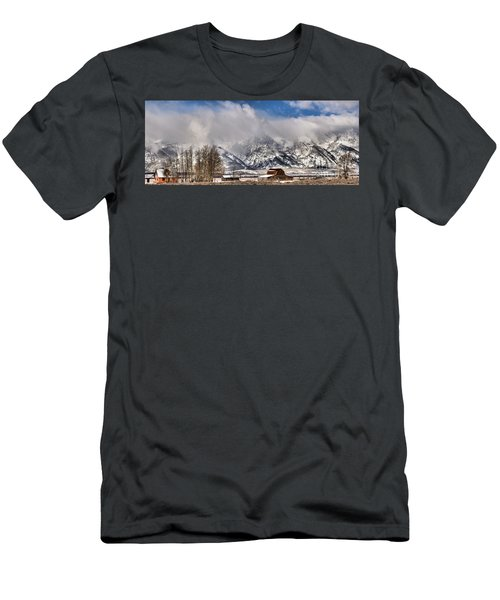 Men's T-Shirt (Slim Fit) featuring the photograph Teton Mountains Over Mormon Row by Adam Jewell