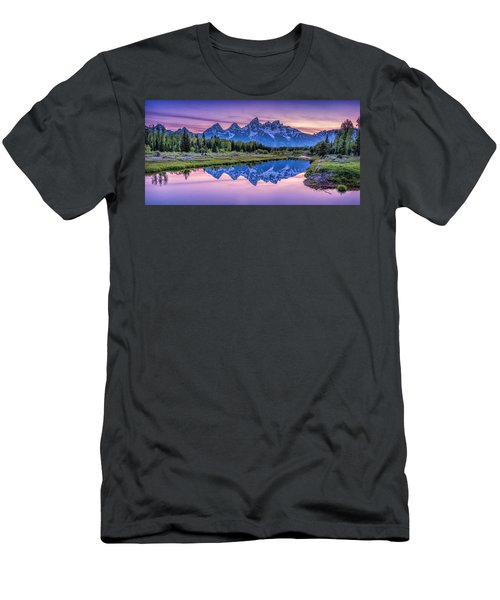 Sunset Teton Reflection Men's T-Shirt (Athletic Fit)