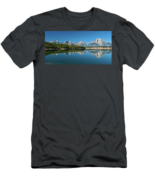 Men's T-Shirt (Athletic Fit) featuring the photograph Teton Reflections II by Gary Lengyel