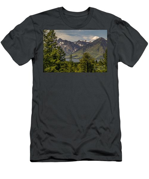 Men's T-Shirt (Slim Fit) featuring the photograph Tetons Landscape by Sue Smith