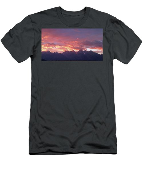 Tetons Sunset Men's T-Shirt (Athletic Fit)