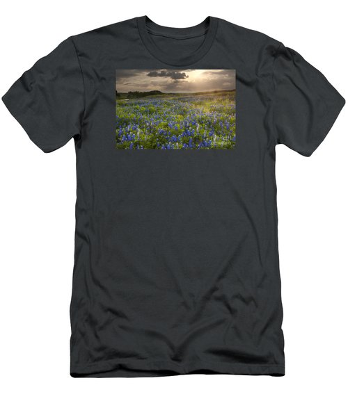 Texas Bluebonnets At Sunrise Men's T-Shirt (Slim Fit) by Keith Kapple