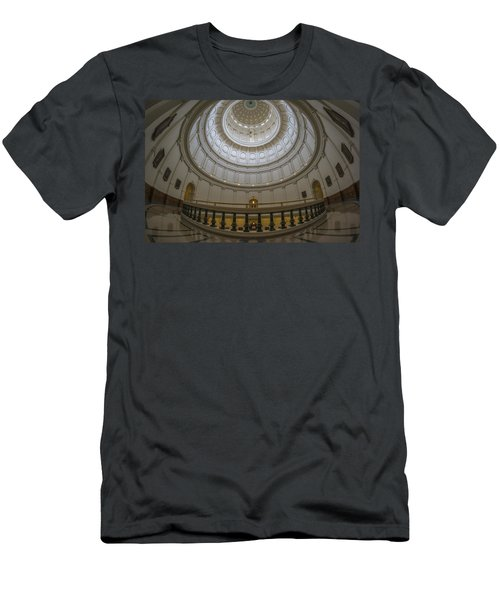 Texas Capitol Dome Wide Angle Men's T-Shirt (Athletic Fit)