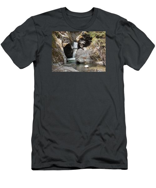 Texas Falls In Vermont Men's T-Shirt (Slim Fit) by Catherine Gagne