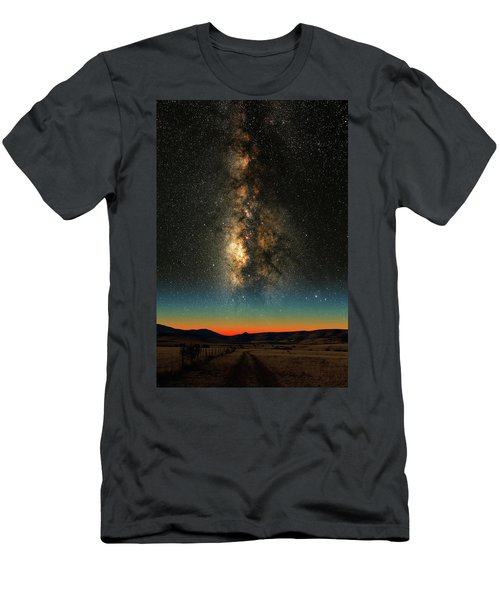 Men's T-Shirt (Slim Fit) featuring the photograph Texas Milky Way by Larry Landolfi