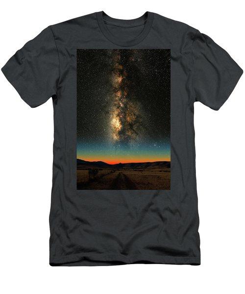Texas Milky Way Men's T-Shirt (Slim Fit) by Larry Landolfi