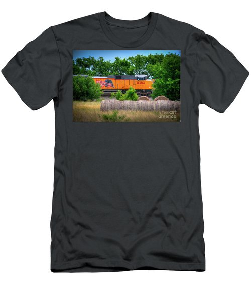 Texas Train Men's T-Shirt (Slim Fit) by Kelly Wade