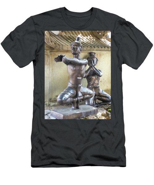 Thai Yoga Statues At Famous Wat Pho Temple Men's T-Shirt (Athletic Fit)
