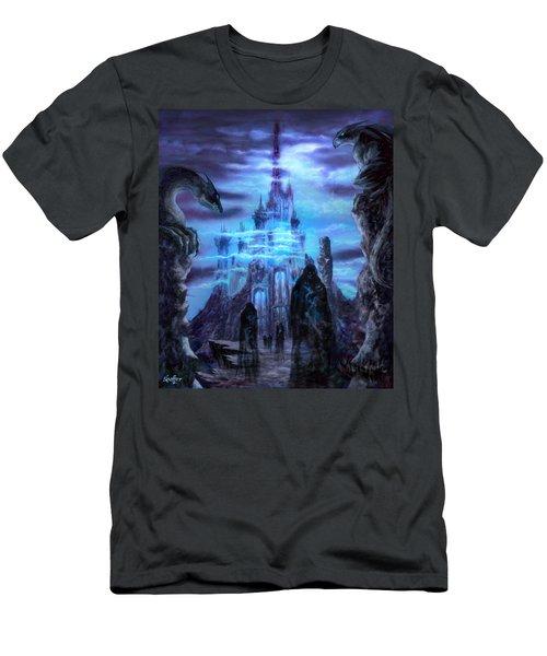 Men's T-Shirt (Slim Fit) featuring the mixed media Thangorodrim by Curtiss Shaffer