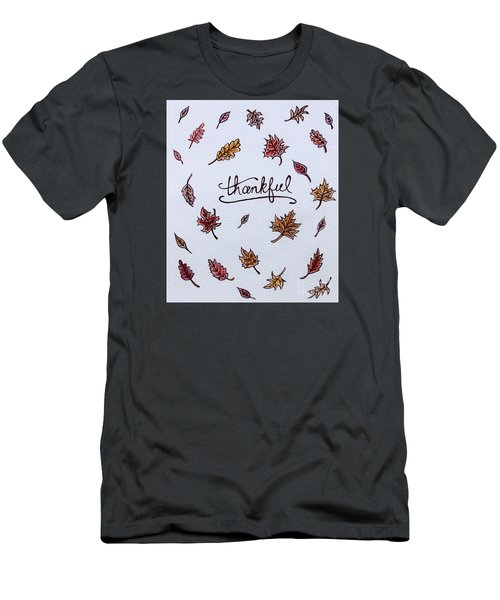 Thankful Men's T-Shirt (Slim Fit) by Elizabeth Robinette Tyndall
