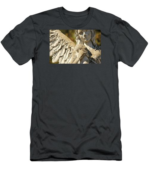 The Angel At St. Thomas Men's T-Shirt (Slim Fit) by Lynn Jordan