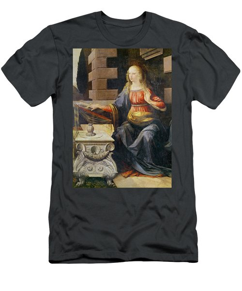 The Annunciation   Detail Of The Virgin Men's T-Shirt (Athletic Fit)