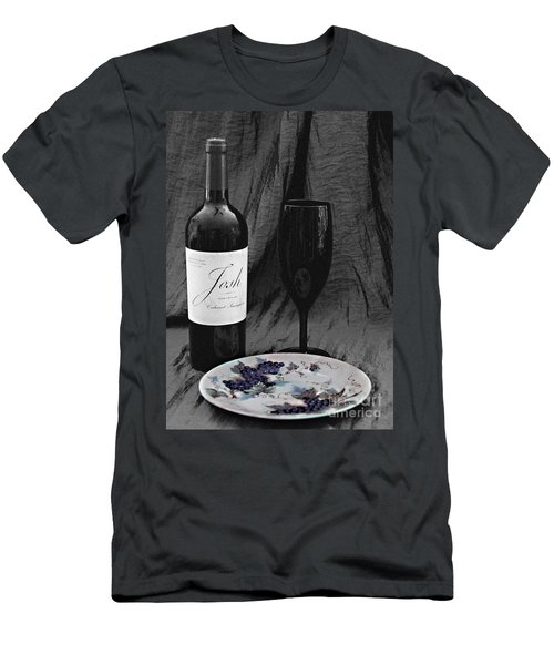 The Art Of Wine And Grapes Men's T-Shirt (Slim Fit) by Sherry Hallemeier