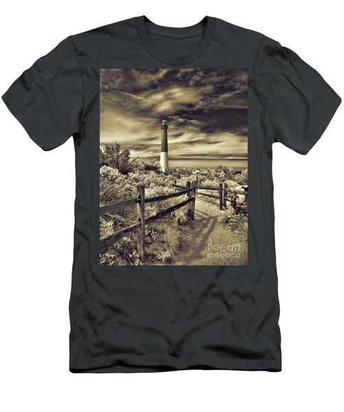 The Barnegat Lighthouse New Jersey Men's T-Shirt (Athletic Fit)