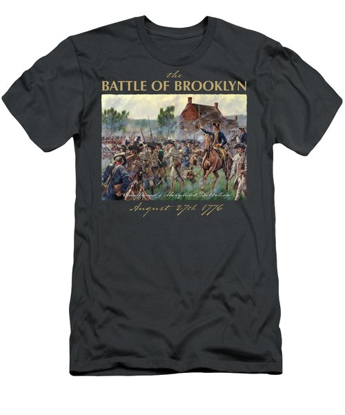 The Battle Of Brooklyn - Smallwood's Marylanders At The Old Stone House - Long Island  Men's T-Shirt (Athletic Fit)