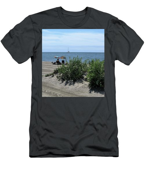 Men's T-Shirt (Slim Fit) featuring the photograph The Beach by John Scates