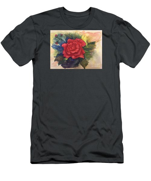 The Beauty Of A Rose Men's T-Shirt (Slim Fit) by Lucia Grilletto