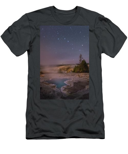 The Big Dipper In Yellowstone National Park Men's T-Shirt (Athletic Fit)