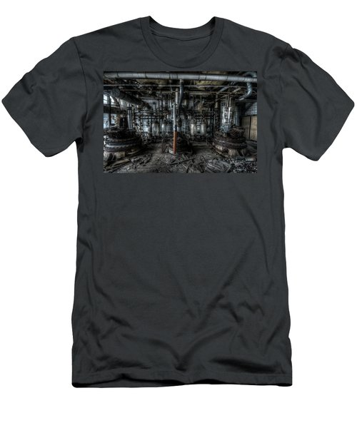 Men's T-Shirt (Slim Fit) featuring the digital art The Big Experiment  by Nathan Wright