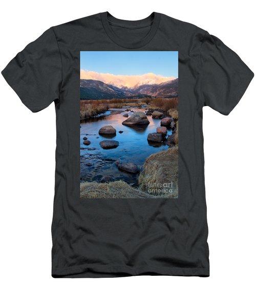The Big Thompson River Flows Through Rocky Mountain National Par Men's T-Shirt (Slim Fit) by Ronda Kimbrow