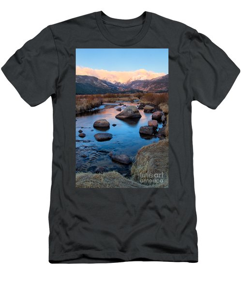 The Big Thompson River Flows Through Rocky Mountain National Par Men's T-Shirt (Athletic Fit)