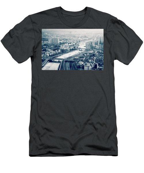 The Bisection Of Saigon Men's T-Shirt (Slim Fit) by Joseph Westrupp