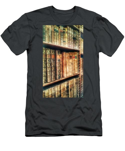 The Bookcase Men's T-Shirt (Slim Fit) by Isabella F Abbie Shores FRSA