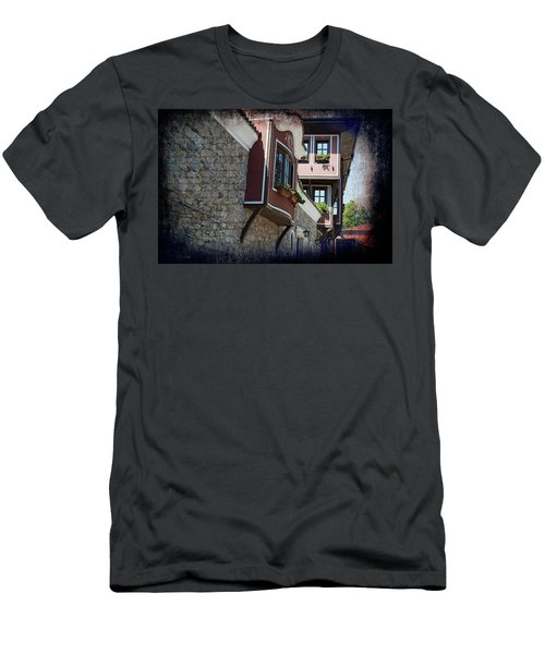 Men's T-Shirt (Athletic Fit) featuring the photograph The Brown House by Milena Ilieva