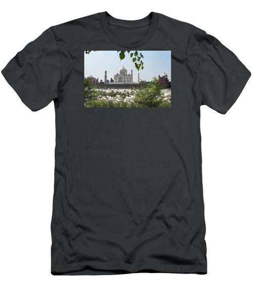 The Calm Behind The Taj Mahal Men's T-Shirt (Athletic Fit)