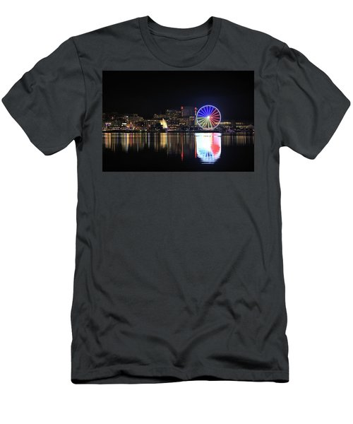 The Capital Wheel Over The Potomac Men's T-Shirt (Athletic Fit)