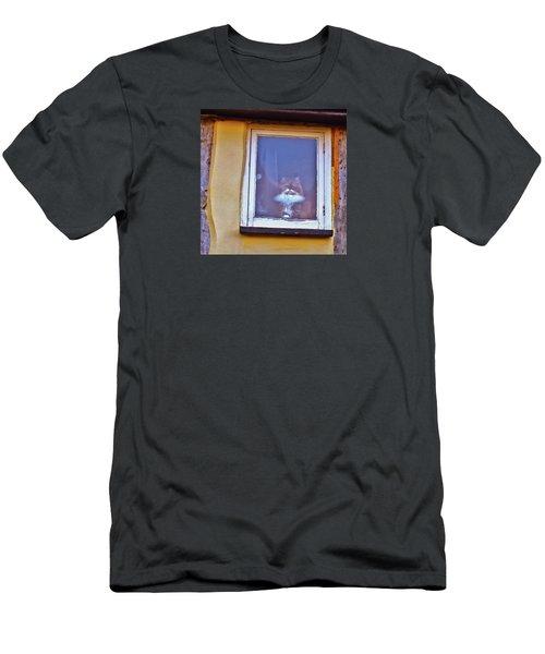 The Cat In The Window Men's T-Shirt (Slim Fit) by Anne Kotan