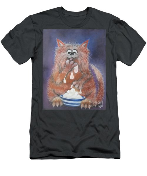 The Cat Who Got The Cream Men's T-Shirt (Athletic Fit)