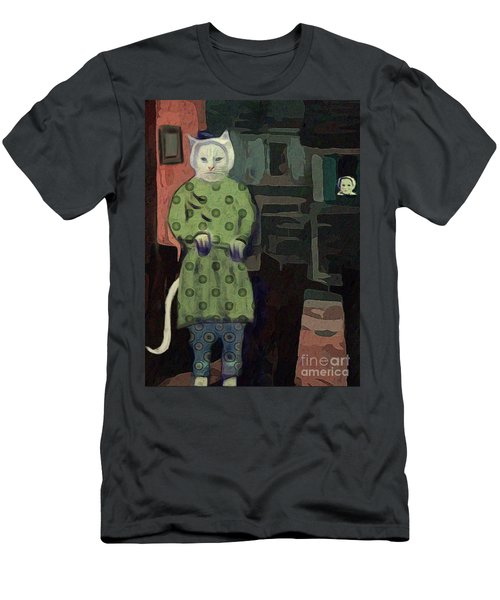 Men's T-Shirt (Slim Fit) featuring the digital art The Cat's Pajamas by Alexis Rotella