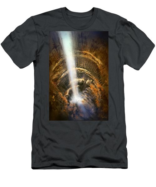 Men's T-Shirt (Athletic Fit) featuring the painting The Cavern by Andrew King