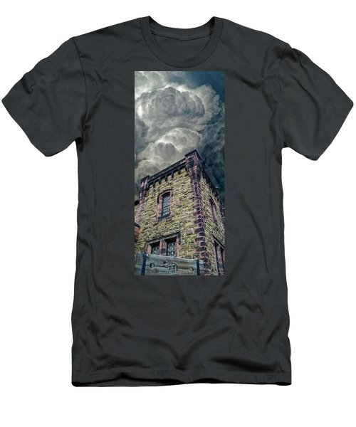 Men's T-Shirt (Slim Fit) featuring the photograph The Cell Block Restaurant by Greg Reed
